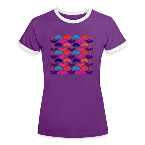 CR - Neon Fan - Camiseta contraste mujer