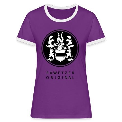 wappen-rawetzer-original- - Frauen Kontrast-T-Shirt