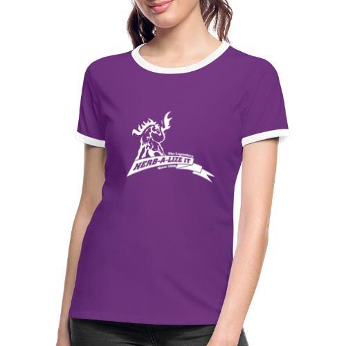 HERBALIZE IT CLASSIC WHITE - Women's Ringer T-Shirt