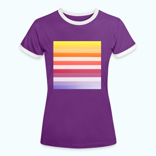 Rainbow Abstract Acrylic Painting - Women's Ringer T-Shirt