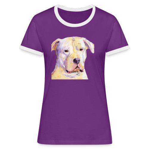 dogo argentino - Dame kontrast-T-shirt