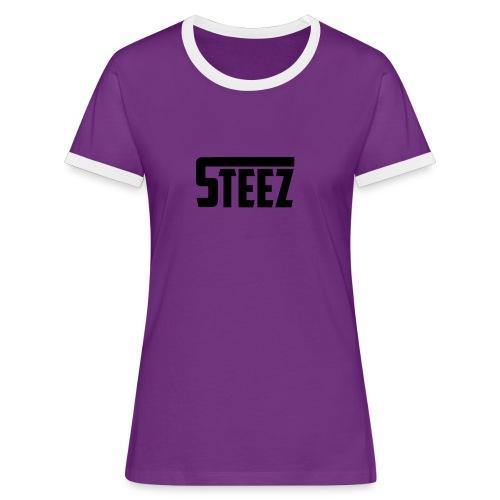 steez tshirt name - Vrouwen contrastshirt