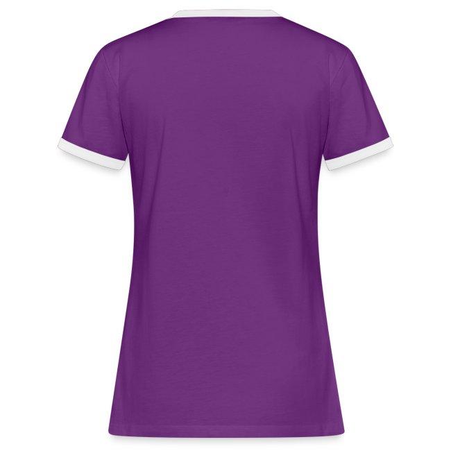 Vorschau: simple woman beer white - Frauen Kontrast-T-Shirt