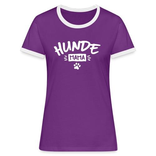 Vorschau: Hunde Mama - Frauen Kontrast-T-Shirt