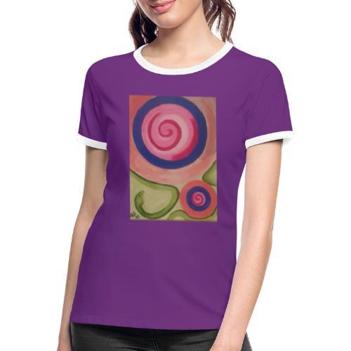 spirale con serpente - Maglietta Contrast da donna