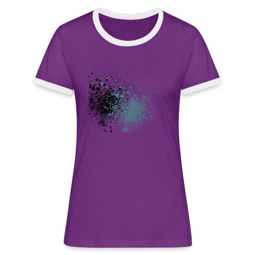 färger - Kontrast-T-shirt dam