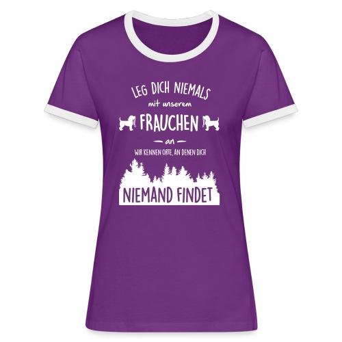 Vorschau: Unser Frauchen - Frauen Kontrast-T-Shirt
