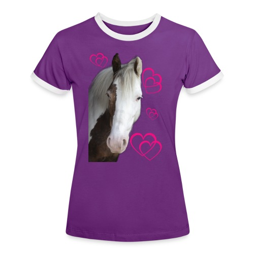 Hästälskare (Daisy) - Kontrast-T-shirt dam