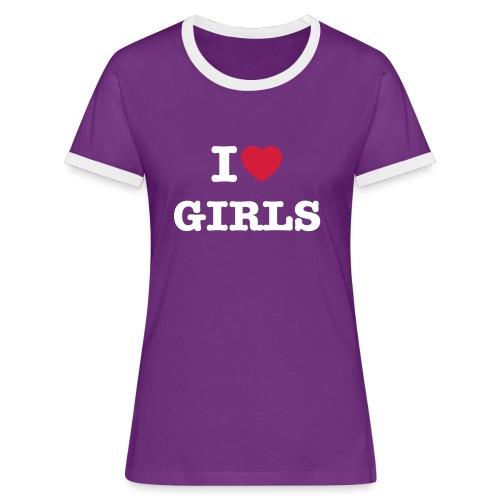 ilovegirls - Frauen Kontrast-T-Shirt