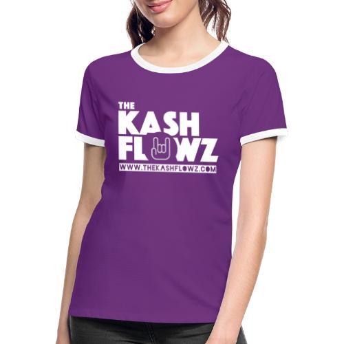 Official Web Site Logo White - T-shirt contrasté Femme
