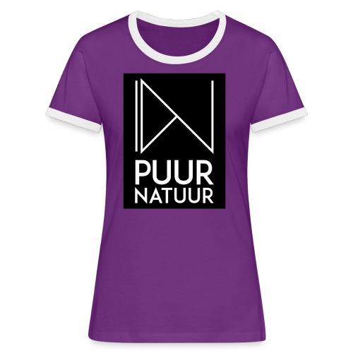 Logo puur natuur negatief - Vrouwen contrastshirt