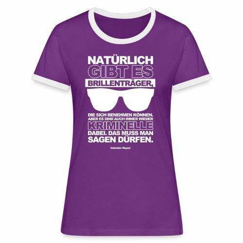Brillenträger - Frauen Kontrast-T-Shirt