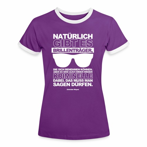 Kriminielle Brillenträger - Frauen Kontrast-T-Shirt