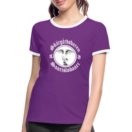 White Logo - Naisten kontrastipaita