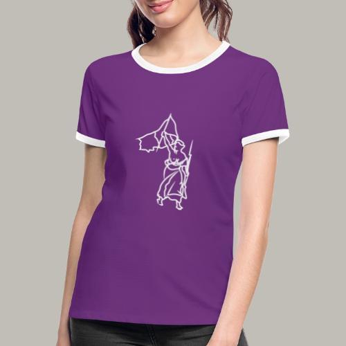 Little piece of liberté W - T-shirt contrasté Femme