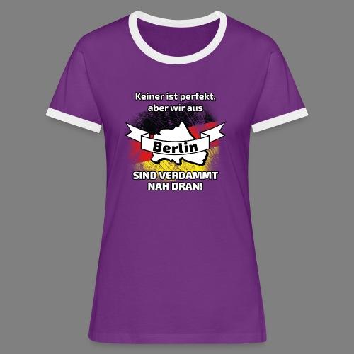 Perfekt Berlin - Frauen Kontrast-T-Shirt