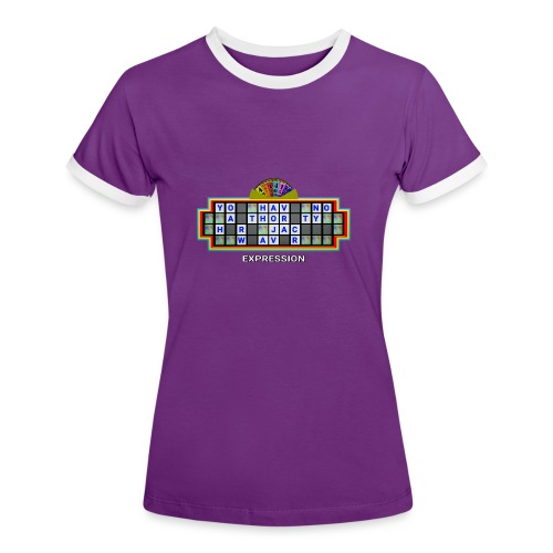 Jackie Weaver Wheel of Fortune - Women's Ringer T-Shirt