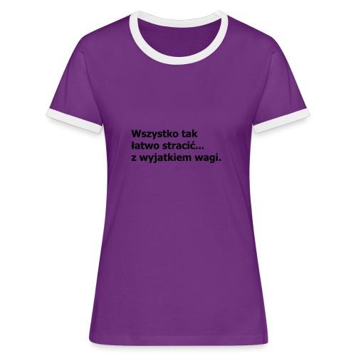 Fit - Koszulka damska z kontrastowymi wstawkami