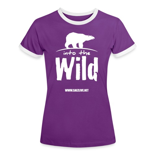 Into the wild (version light) - T-shirt contrasté Femme