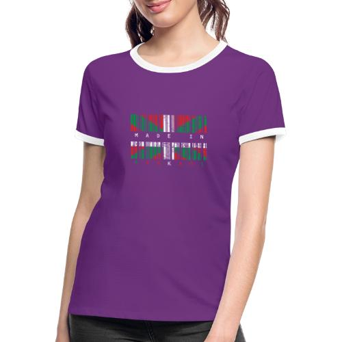 Made in Euskadi Color Grunge - Camiseta contraste mujer