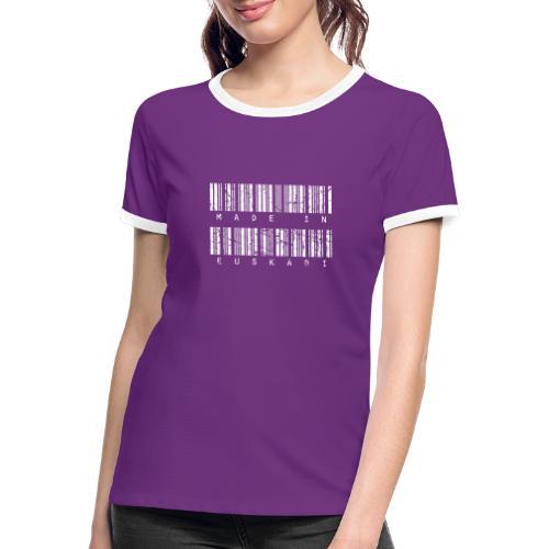 Made in Euskadi White Grunge - Camiseta contraste mujer
