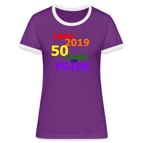 50 Jahre CSD - Frauen Kontrast-T-Shirt