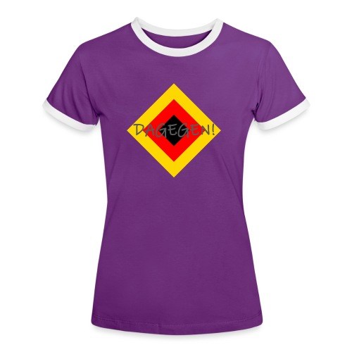 Anti-Raute - Frauen Kontrast-T-Shirt
