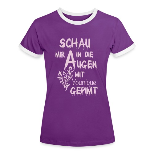 Fanshop Younique - Frauen Kontrast-T-Shirt