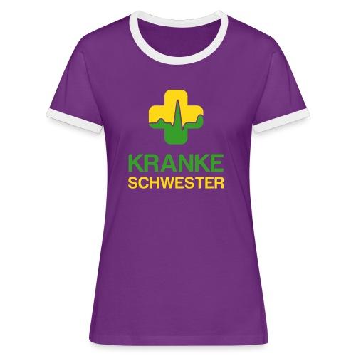 Kranke Schwester II - Frauen Kontrast-T-Shirt