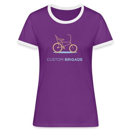 flatvelo - T-shirt contrasté Femme