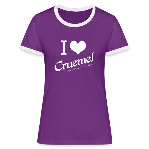 cruemel i heart white - Frauen Kontrast-T-Shirt