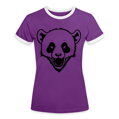 Panda - Frauen Kontrast-T-Shirt