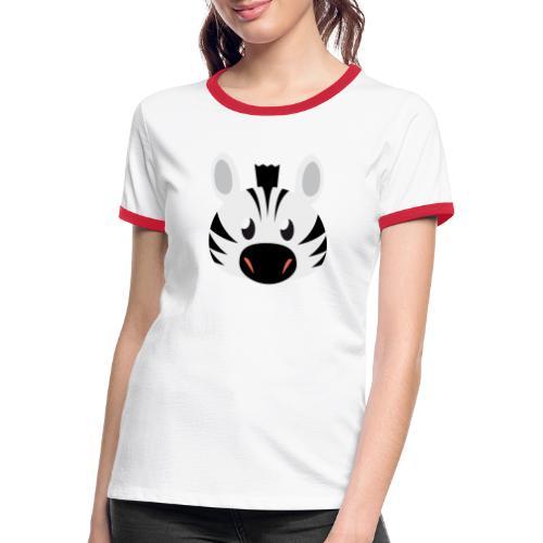 Zebra Zoe - Women's Ringer T-Shirt