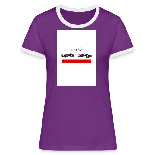 LDEUGM - T-shirt contrasté Femme