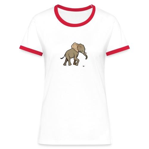African Elephant - Frauen Kontrast-T-Shirt