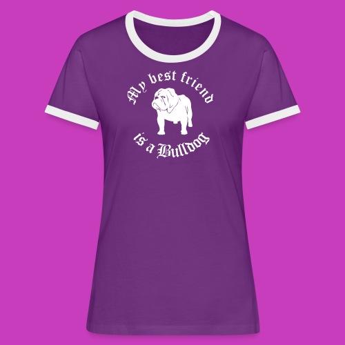 englaender daniel - Frauen Kontrast-T-Shirt