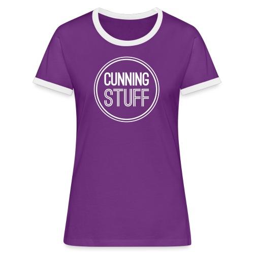 CS-Logo-Original-Negativ - Frauen Kontrast-T-Shirt