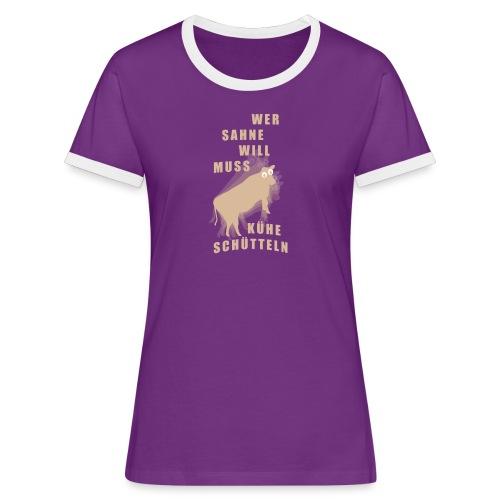 Sahne - Frauen Kontrast-T-Shirt