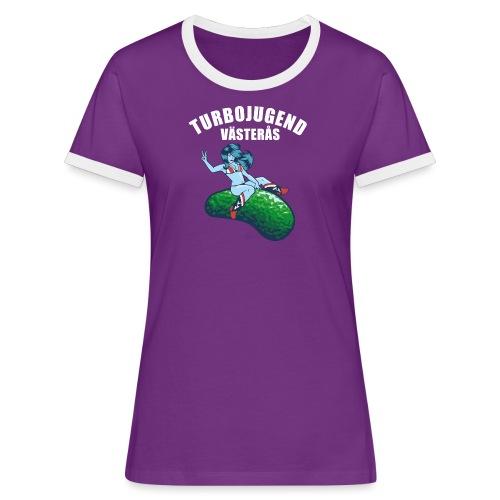 tshirtsolo2 - Kontrast-T-shirt dam