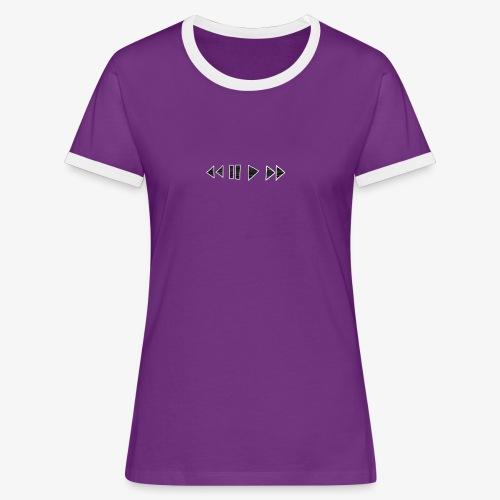 Music Tee - Vrouwen contrastshirt