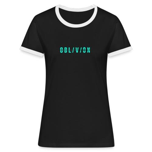 OBL/V/ON white - Maglietta Contrast da donna