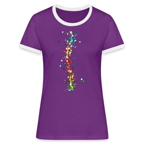 wzorek_01 - Koszulka damska z kontrastowymi wstawkami