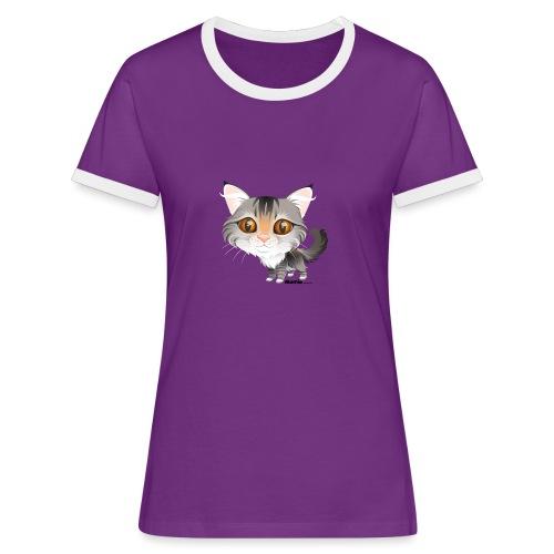 Kat - Vrouwen contrastshirt
