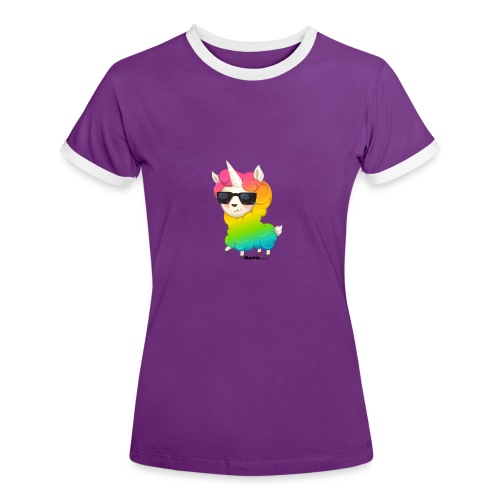 Regenboog animo - Vrouwen contrastshirt