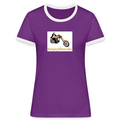 enjoytheride - T-shirt contrasté Femme