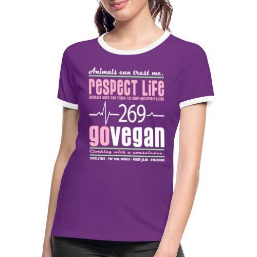 RESPECT LIFE 269 - Frauen Kontrast-T-Shirt