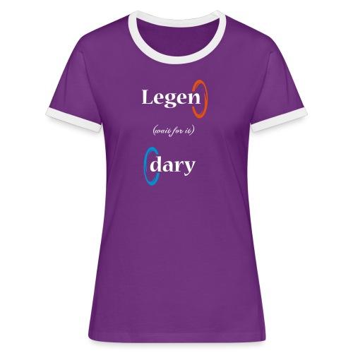 legendary - Camiseta contraste mujer
