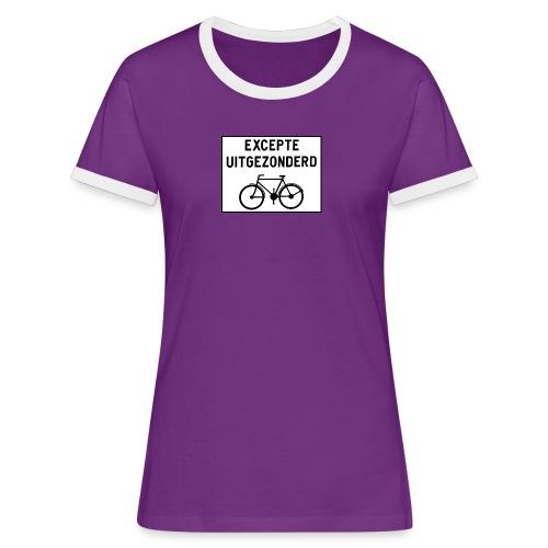 uitgezonderd noir sur blanc - T-shirt contrasté Femme