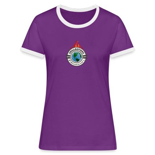 grillnations - Frauen Kontrast-T-Shirt