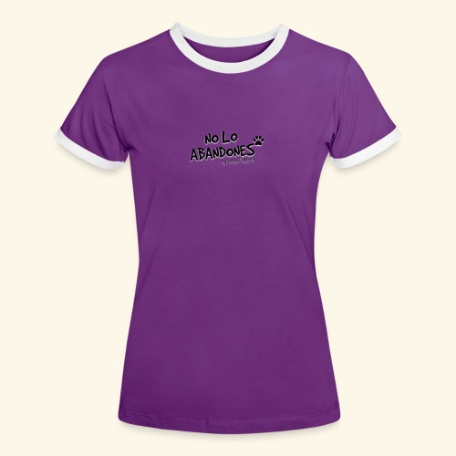 noloabandones negro - Camiseta contraste mujer